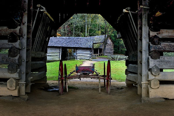 Barn at the Tipton Place, Cades Cove, Great Smoky Mountains National Park.