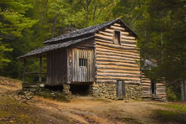 Elijah Oliver cabin, Cades Cove, Great Smoky Mountains National Park, Tennessee
