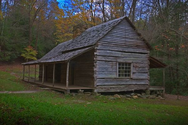 """Noah """"Bud"""" Ogle Place in Great Smoky Mountains National Park located just before the start of the Roaring Fork Motor Nature Trail, Gatlinburg, Tennesses"""