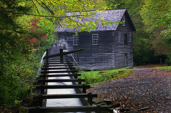 Mingus Mill near the Mountain Farm Village a few miles inside GSMNP as you enter from Cherokee, NC.