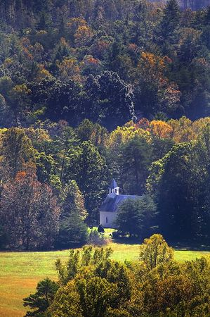Methodist Church in Cades Cove, Great Smoky Mountains National Park, Tennessee
