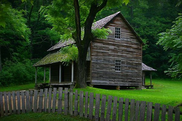 Tipton Place in Cades Cove, Great Smoky Mountains National Park, Tennessee.