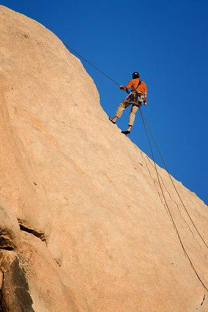 Climber in Joshua Tree National Park, California