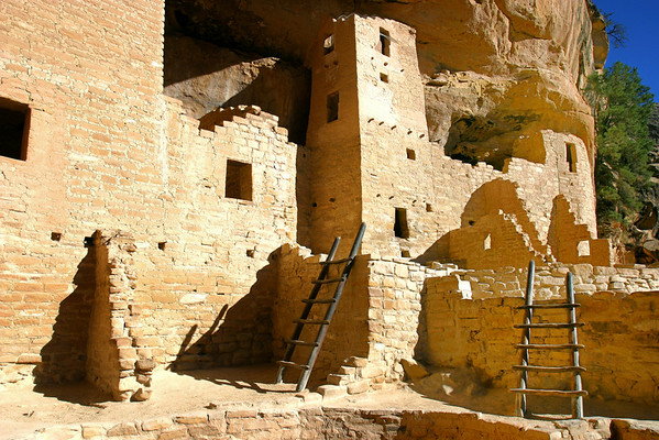 A portion of Cliff Palace taken in Mesa Verde National Park, Colorado