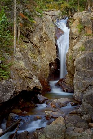 Chasm Falls located on Old Fall River Road, Rocky Mountain National Park, Colorado