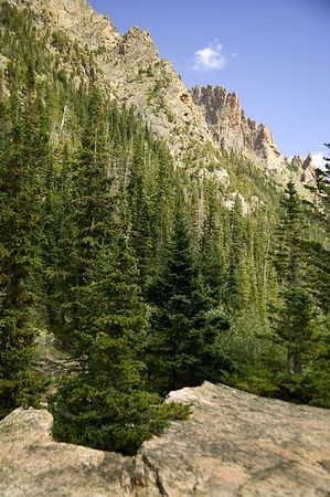 Rock Spires above Old Fall River Road, Rocky Mountain National Park, Colorado