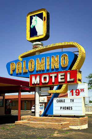 Palomino Motel as you enter Tucumcari, New Mexico on Historic Route 66.