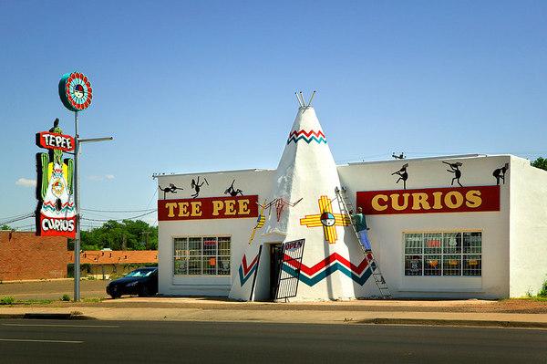 Fixin' up Tee Pee Curios in Tucumcari, New Mexico on Historic Route 66.