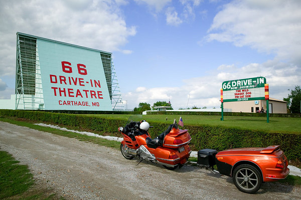 66 Drive-In Theatre located in Carthage, Missouri on Historic Route 66.