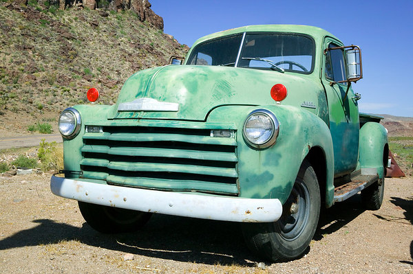 Old Chevrolet truck at Cool Springs, Arizona along side Historic Route 66,