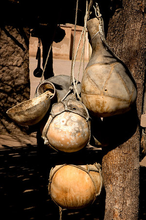 Drinking and storage gourds at Tumacácori National Historical Park