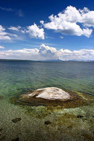Cone Geyser - on the edge of Yellowstone Lake