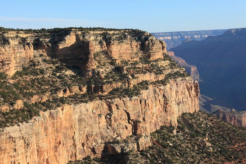 First light near the entrance to Bright Angel Trail