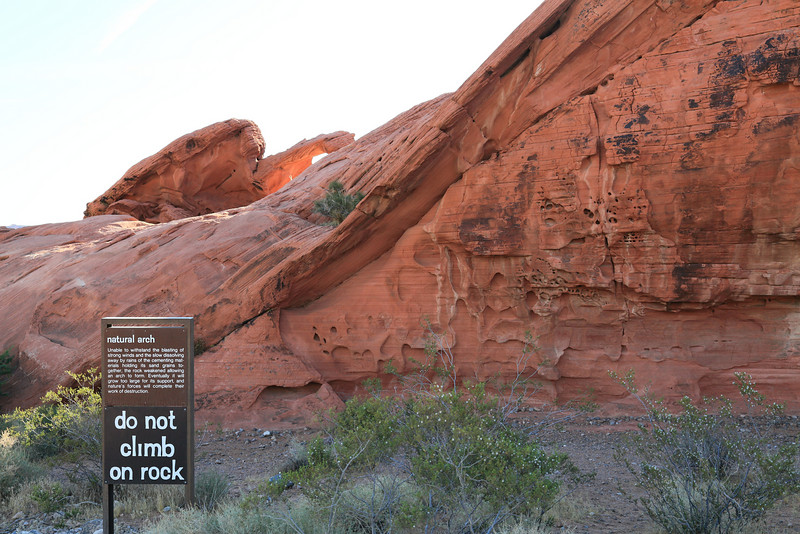 Natural Arch at Valley of Fire State Park