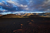 """Morning over Craters of the Moon.  This was taken with a 3-stop Reverse ND grad to get the whole scene exposed correctly in one shot.  The """"big hill"""" in the background is Blizzard Mt (9276'); it's the southern-most peak of the Pioneers."""