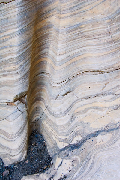Marble detail in Mosaic Canyon, Death Valley NP.