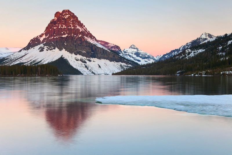 First Light at Two Medicine Lake, Glacier National Park, Montana.