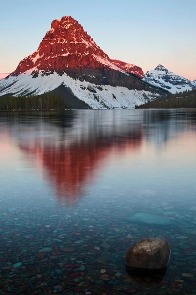 Two Medicine Lake Sunrise, Glacier National Park, Montana.