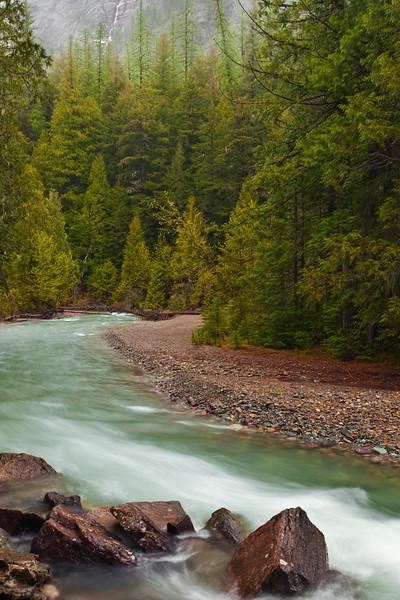 Avalanche Creek Rain, Glacier National Park, Montana
