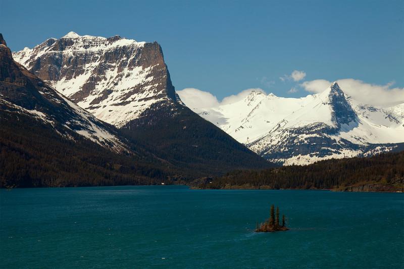 Midday at Saint Mary Lake, Glacier National Park, Montana.