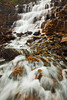 Wide view of Silver Staircase Falls, Montana.