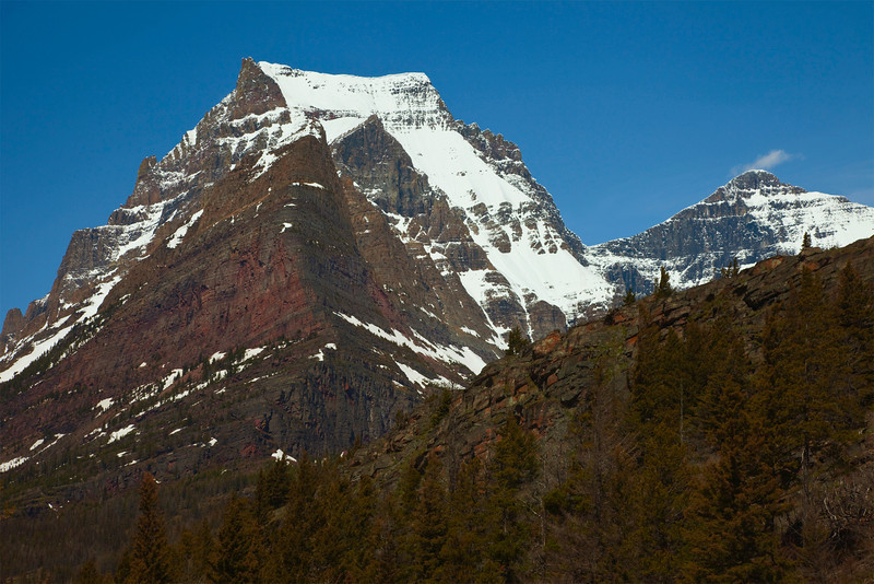 Going-to-the-Sun Mountain, Glacier National Park, Montana.