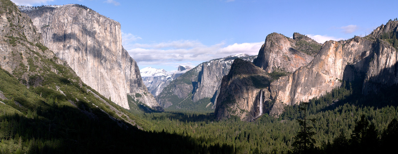 Bridal Falls and El Capitan From Artist Point Yosemite National Park