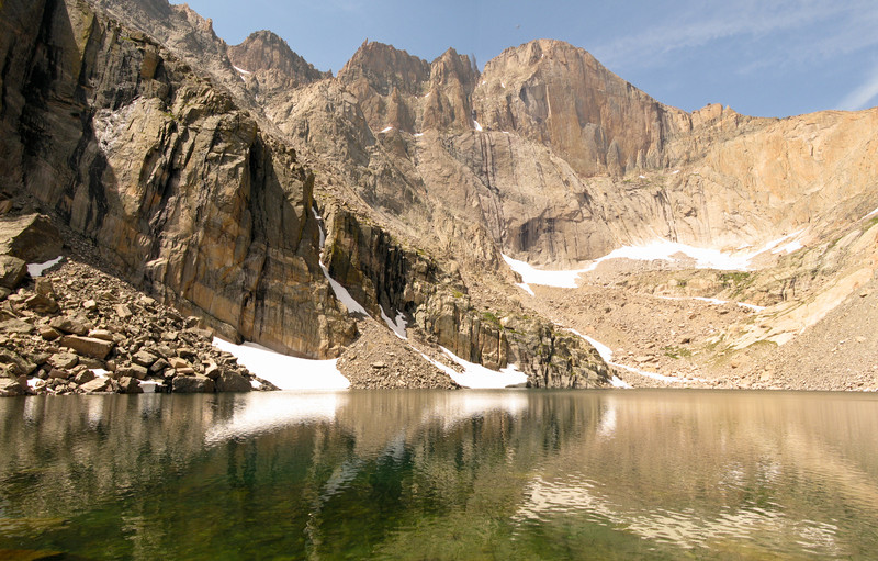 The Diamond of Long's Peak Rocky Mountain National Park