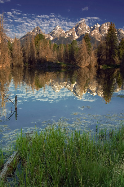 Grand Tetons taken at Schwabacher Landing.