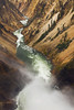 Lower Falls spray and canyon, Yellowstone National Park
