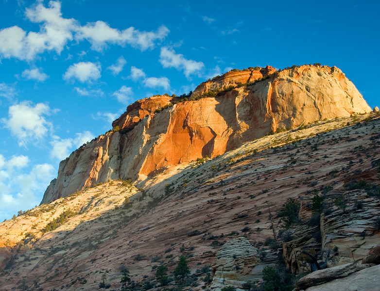 East Temple at sunrise, Zion National Park