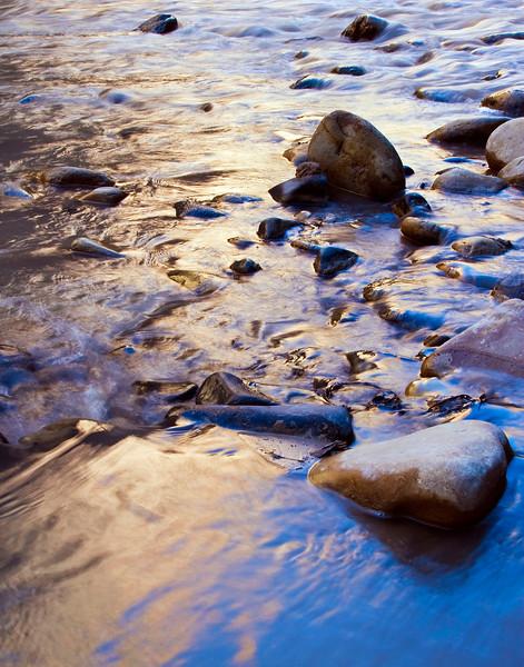 Virgin River reflections along the Riverside Walk, Zion National Park