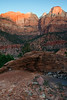 Zion Canyon at sunrise