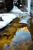 Reflection and ice in Echo Canyon, Zion National Park