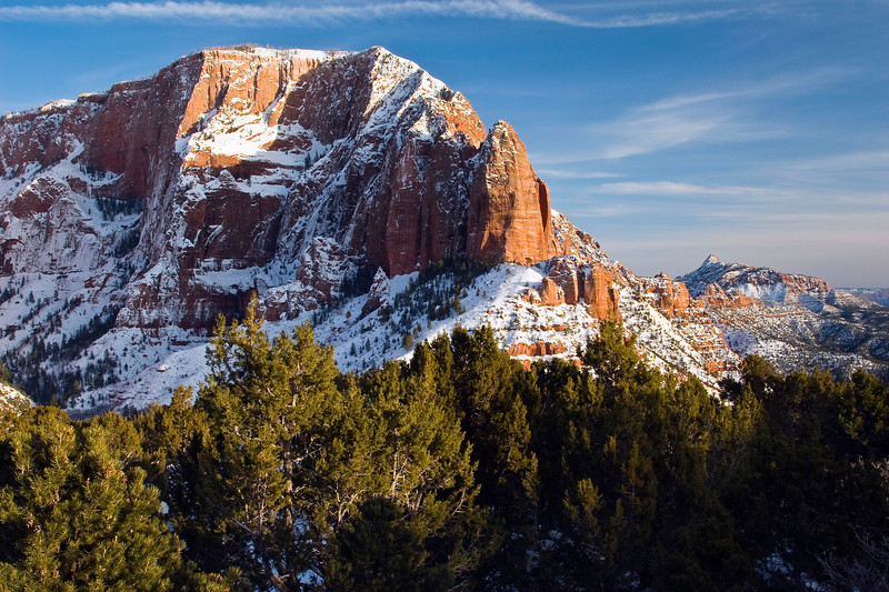 Kolob Canyon in afternoon light, Zion National Park
