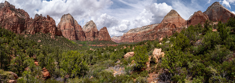 Across Zion Canyon
