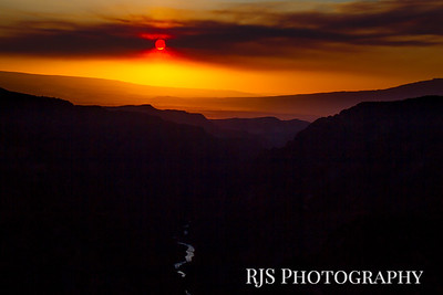 Smokey Sunset - Back Canyon of the Gunnison