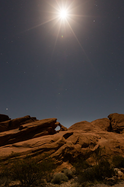 Arch Rock Under The Moon