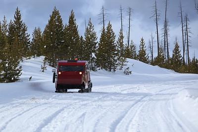 Snow Coach in Yellowstone