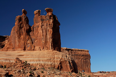 Three Gossipes Towers Arches National Park, Moab, Utah, USA, North America