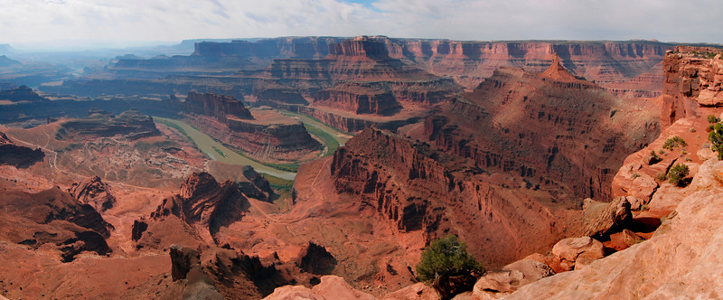 Panorama of dead horse point in canyon lands national park.