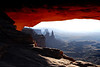Photos of the famous Mesa Arch in  Canyon Lands National Park.