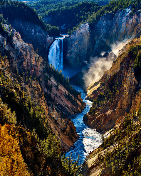 Yellpwstone National Park, Lower Falls, Wyoming