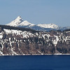 March 20, 2010. Mount Thielson from Crater Lake, NP, Oregon.