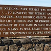 August 12, 2011.  National Park Service Mandate on the back of the sign.