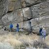 November 13, 2010.  The petroglyphs, Lava Beds National Monument, California.