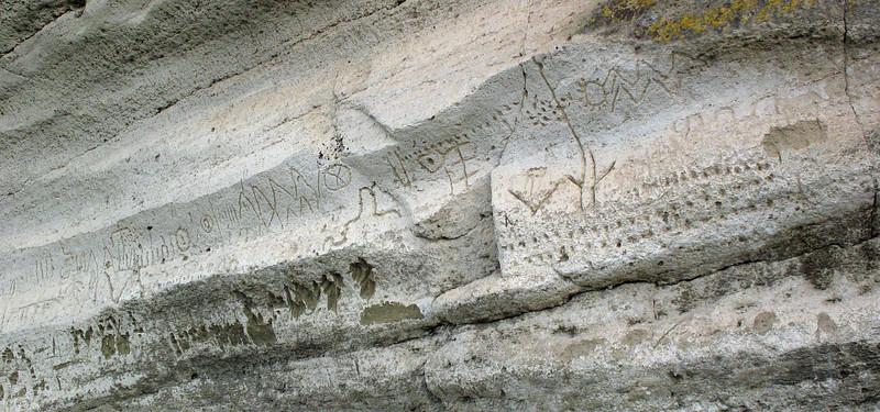 November 13, 2010.  Petroglyphs, Lava Beds National Monument, California.