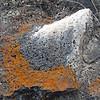 November 13, 2010.  Pack rat white wash at Captain Jack's Stronghold, Lava Beds National Monument, California.
