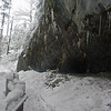 March 26, 2011.  Snow and ice on the trail from the cave exit.