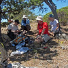 July 6, 2013.  Lunch in the shade.  Friends of CSNM at Hobart Bluff.